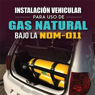 Instalación vehicular para uso de gas natural bajo la NOM-011