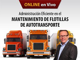 Administración eficiente en el mantenimiento de flotillas de autotransporte (Online)