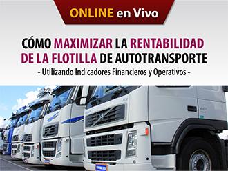 Cómo Maximizar la rentabilidad de la flotilla de autotransporte - utilizando indicadores financieros y operativos (Online)