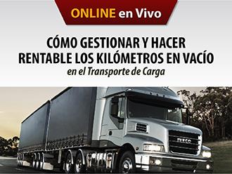 Cómo gestionar y hacer rentable los Km en vacío en el transporte de carga (Online)