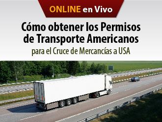 Cómo obtener los permisos de transporte americanos para el cruce de mercancías a USA(Online)