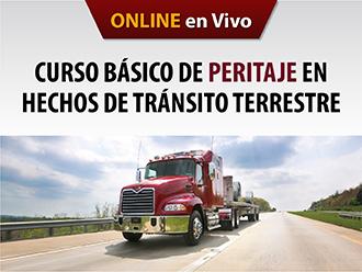 Curso básico de peritaje en hechos de tránsito terrestre (Online)