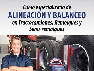 Curso especializado de alineación y balanceo en tractocamiones, remolques y semi-remolques