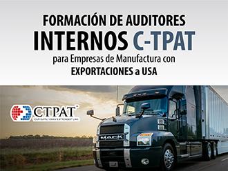Formación de auditores internos C-TPAT para empresas de manufactura con exportaciones a USA