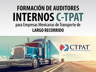 Formación de auditores internos C-TPAT para empresas de transporte de largo recorrido