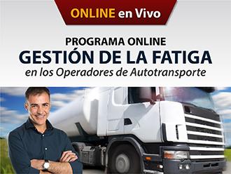 Gestión de la fatiga en los operadores de autotransporte (Online)