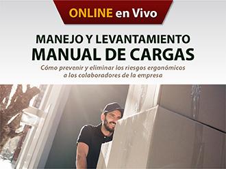 Manejo y levantamiento manual de cargas-Cómo prevenir y eliminar los riesgos ergonómicos a los colaboradores de la empresa (Online)