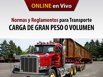 Normas y reglamentos para Transporte de carga de Gran Peso y Volumen (Online)