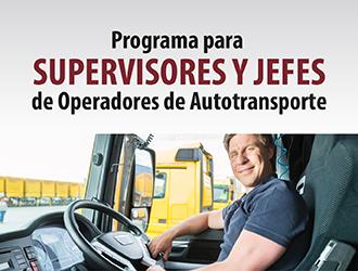 Programa de actualización para supervisores y jefes de operadores de autotransporte