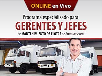 Programa especializado para  Gerentes y Jefes de Mantenimiento de flotas de transporte (Online)