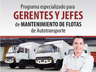 Programa especializado para Gerentes y Jefes de Mantenimiento de flotas de autotransporte